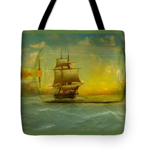 Once In A Bottle Tote Bag by Jeff Burgess