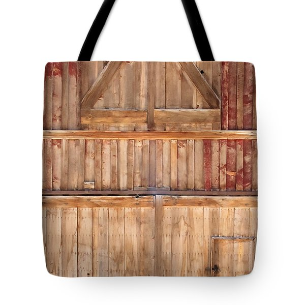 Once Red Doors Tote Bag by Margie Hurwich