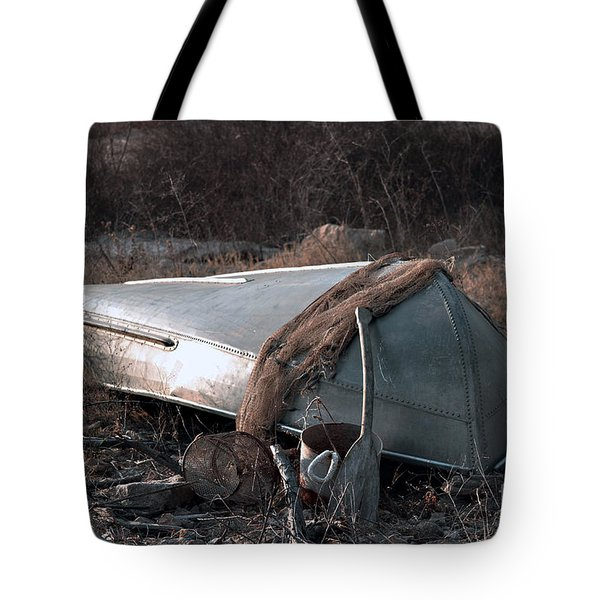 Once There Was A Fisherman Tote Bag by Linda Cox