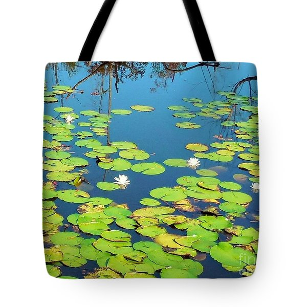 Once Upon A Lily Pad Tote Bag by Eloise Schneider