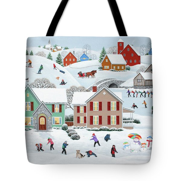 Once Upon A Winter Tote Bag by Wilfrido Limvalencia