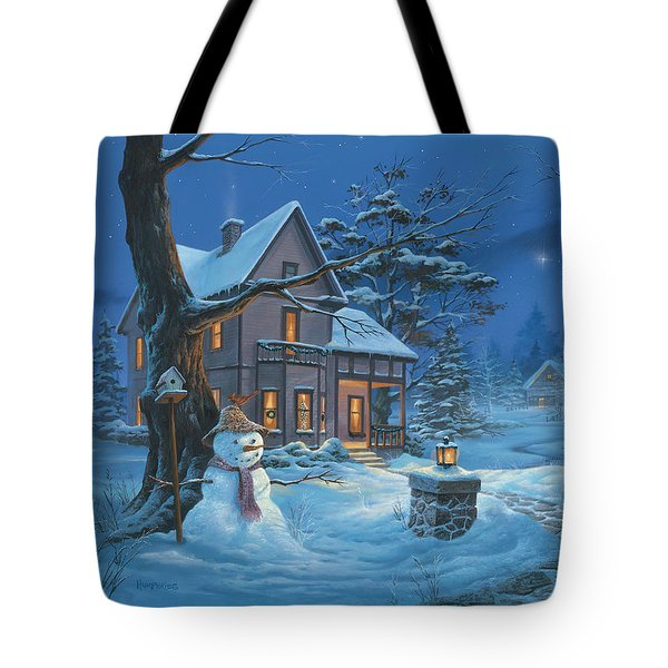 Once Upon A Winter's Night Tote Bag
