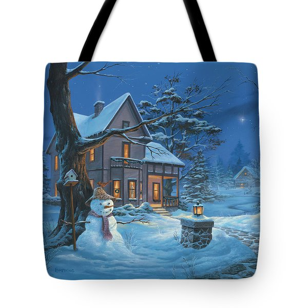 Once Upon A Winter's Night Tote Bag by Michael Humphries