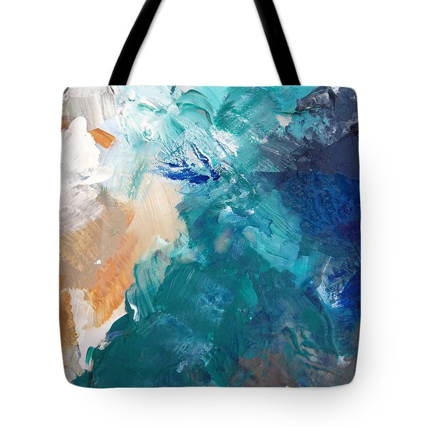 On A Summer Breeze- Contemporary Abstract Art Tote Bag by Linda Woods