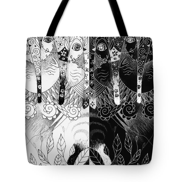 One And All - Black And White Tote Bag