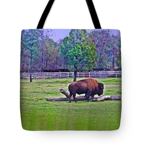 One Bison Family Tote Bag by Miroslava Jurcik