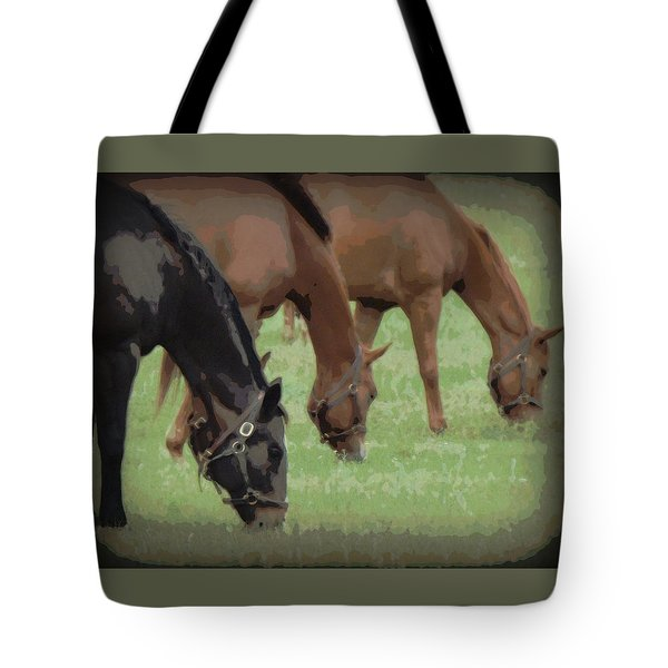 One Black Horse 1 Tote Bag