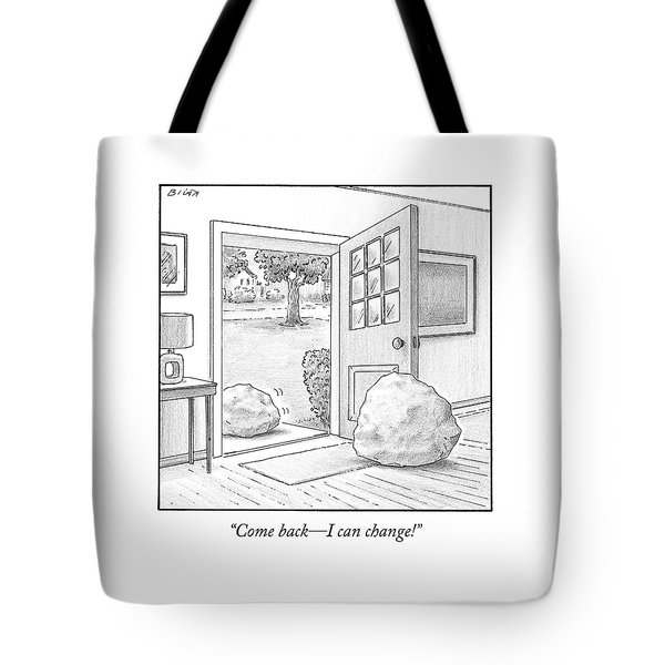 One Boulder Speaks To Another Boulder That Tote Bag