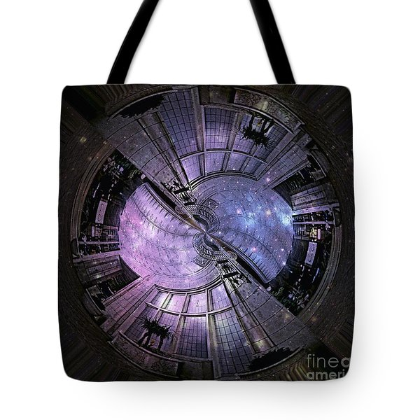 One Bulb Out In A Swirl With A Galaxy Tote Bag