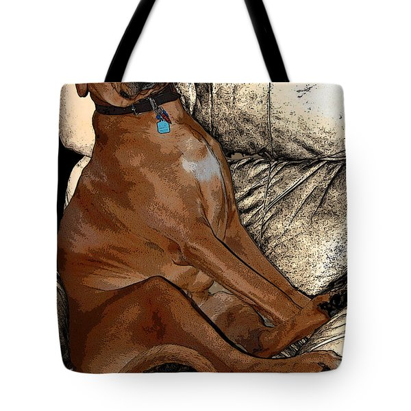 One Cool Dog Tote Bag by Mim White