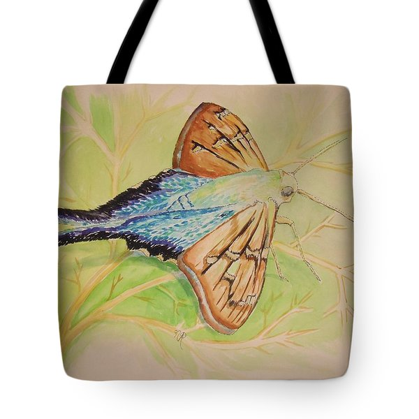 One Day In A Long-tailed Skipper Moth's Life Tote Bag