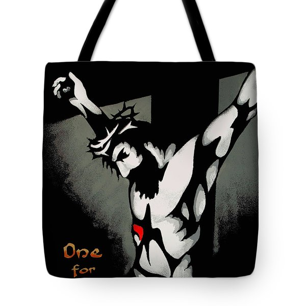 Tote Bag featuring the painting One For All by Dale Loos Jr