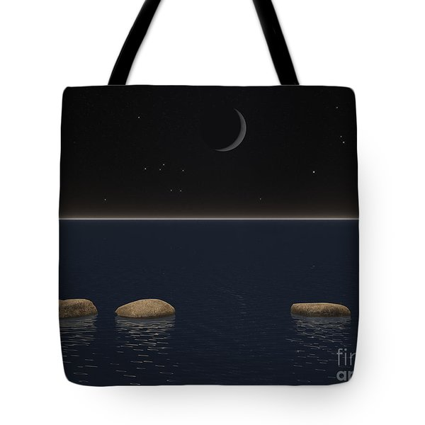 One Giant Leap For Mankind Tote Bag by Phil Perkins