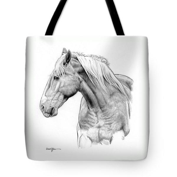 Da134 One Horse Daniel Adams  Tote Bag
