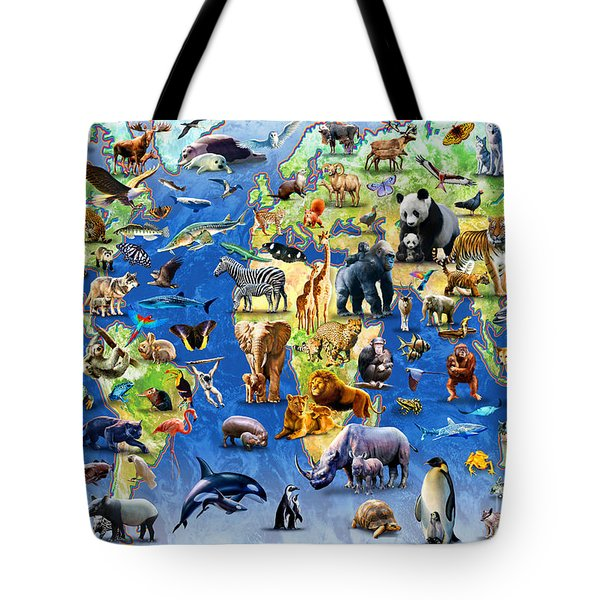 One Hundred Endangered Species Tote Bag by Adrian Chesterman