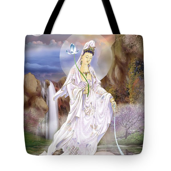 One Leaf Kuan Yin Tote Bag by Lanjee Chee