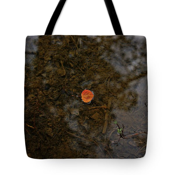 Tote Bag featuring the photograph One Leaf by Jeremy Rhoades