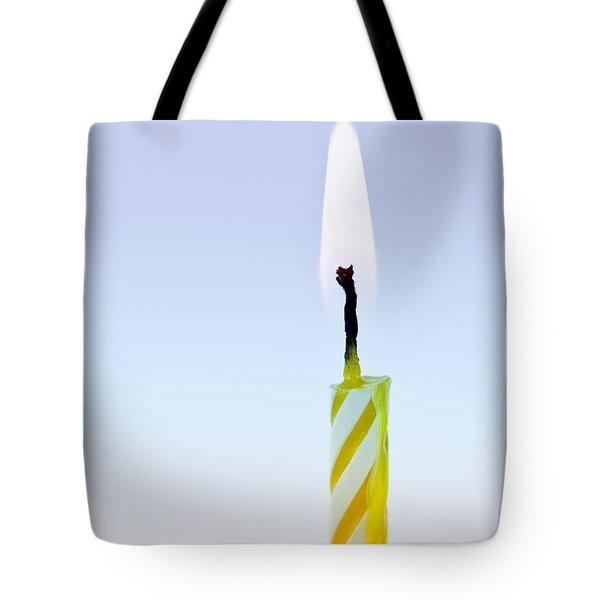 One Lit Candle Tote Bag by Elena Elisseeva