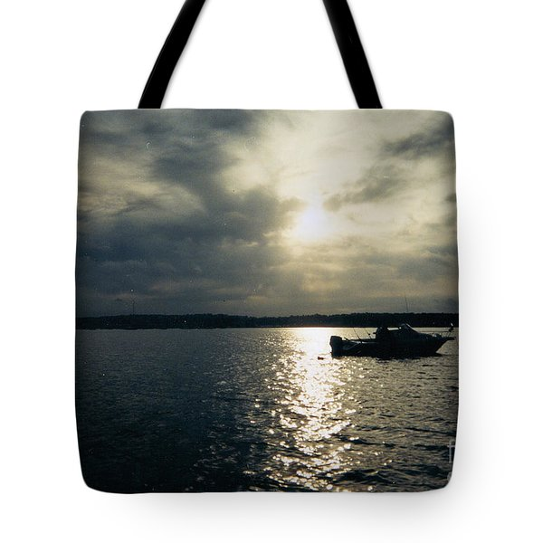One Lonely Fisherman Tote Bag by John Telfer
