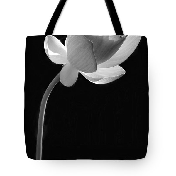 One Lotus Bud Tote Bag