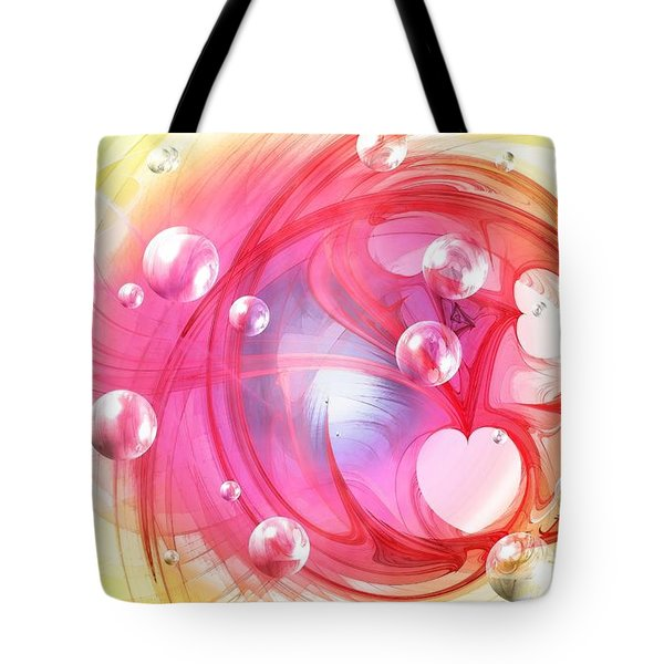 One Love... One Heart... One Life Tote Bag by Peggy Hughes