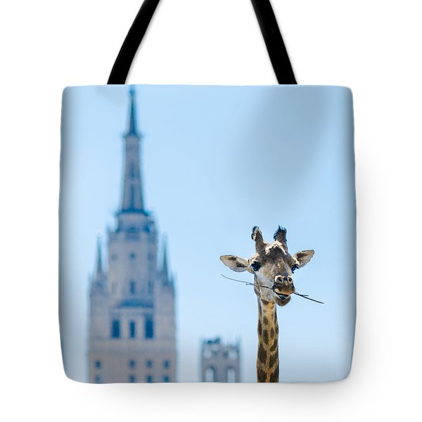 One More Bite To Outgrow The Tallest 2 Tote Bag by Alexander Senin