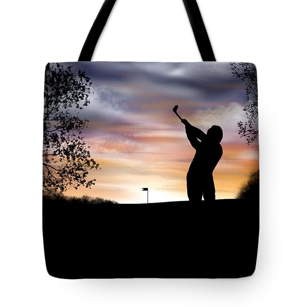 One More Hole - A Late Round Of Golf Tote Bag