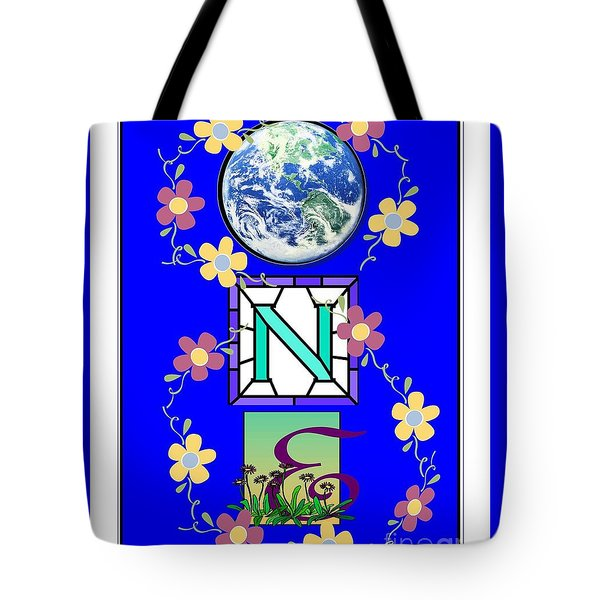 Tote Bag featuring the digital art Universal One-ness by Bobbee Rickard