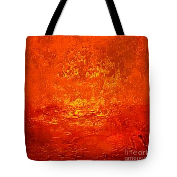 One Night In Old Shanghai By Rjfxx.-original Minimalist Abstract Art Painting Tote Bag