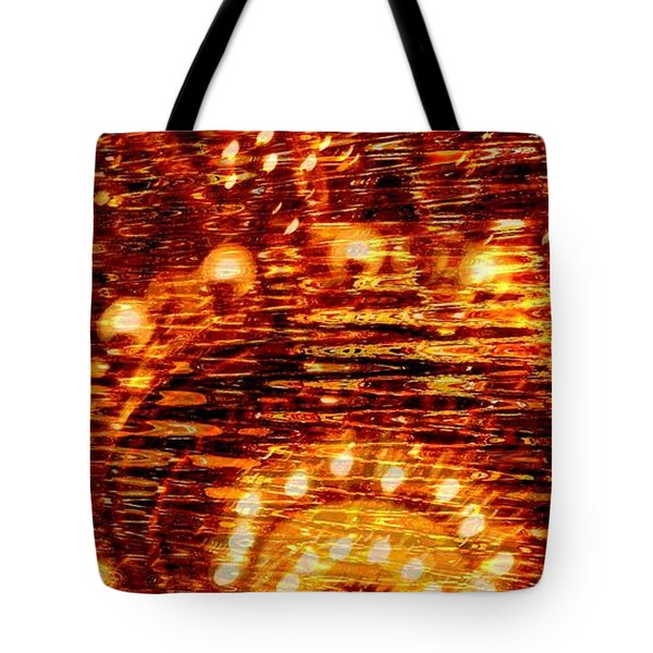 One Night In Paris - Abstract Art Tote Bag by Carol Groenen
