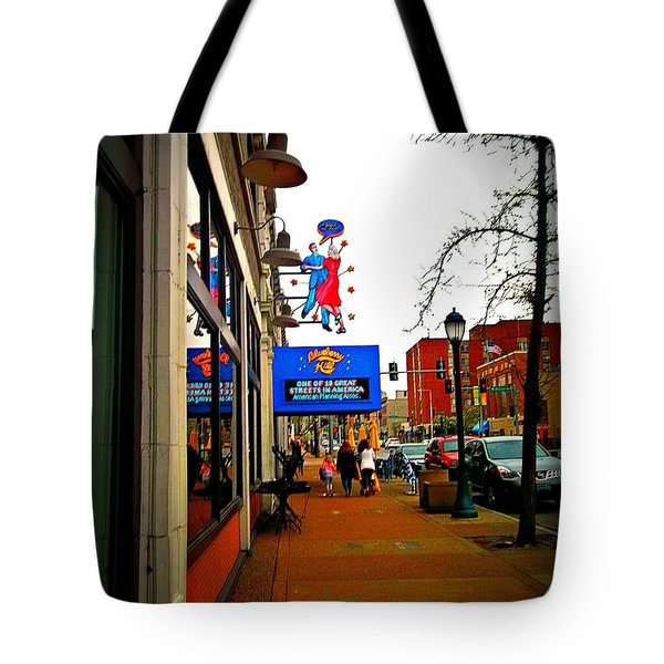 One Of Ten Great Streets Tote Bag by Kelly Awad