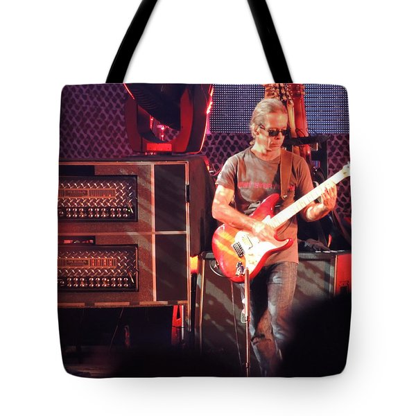Tote Bag featuring the photograph One Of The Greatest Guitar Player Ever by Aaron Martens
