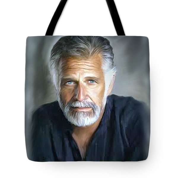 One Of The World's Most Interesting Man - In Oil Tote Bag by Angela A Stanton