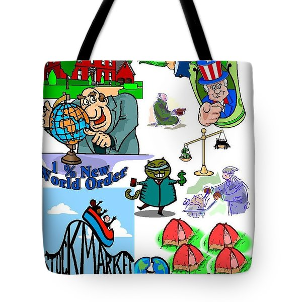 One Percent New World Order Tote Bag