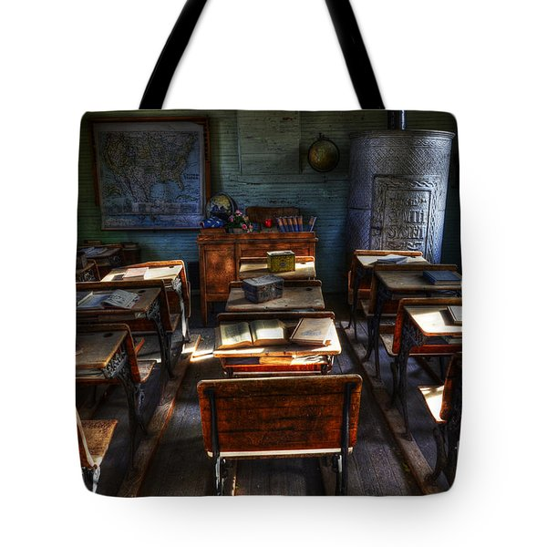 One Room School House Tote Bag by Bob Christopher