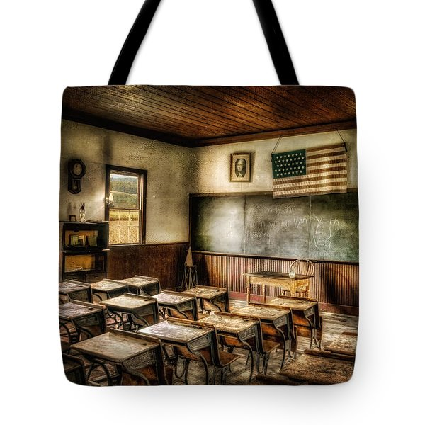 One Room School Tote Bag by Lois Bryan