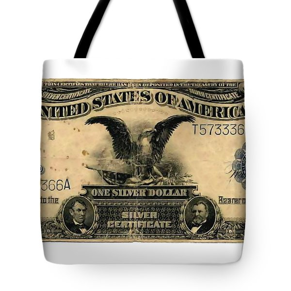 One Silver Dollar Tote Bag by Lanjee Chee