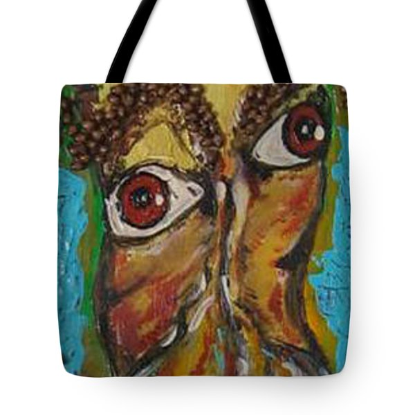 Tote Bag featuring the painting One Too Many by Lucy Matta