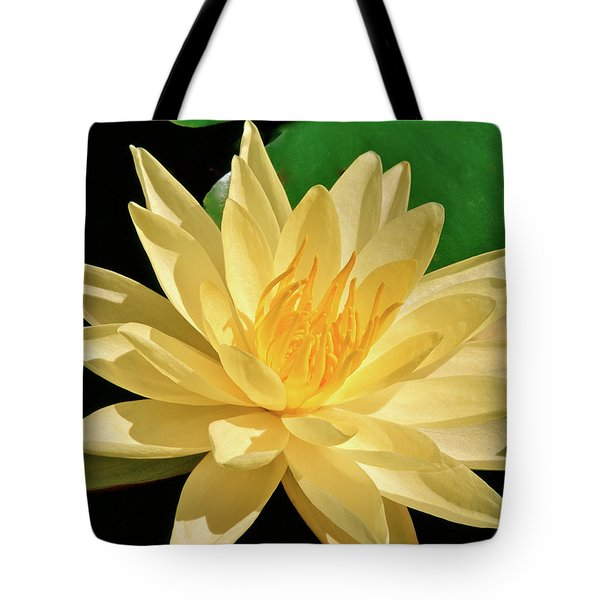 One Water Lily  Tote Bag by Ed  Riche