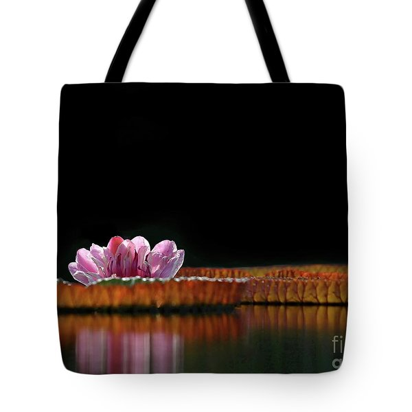 One Water Lily Tote Bag by Sabrina L Ryan