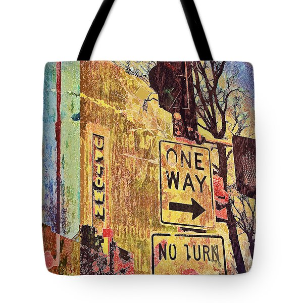 One Way To Uptown Tote Bag