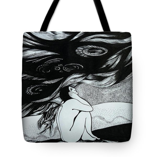 One Wing Tote Bag by Anna  Duyunova