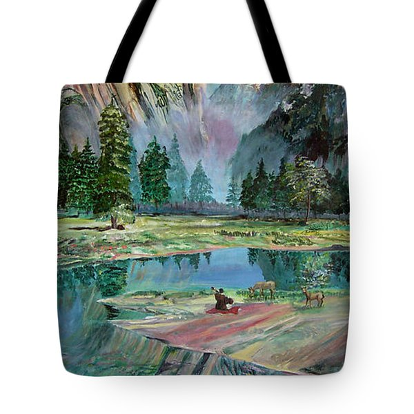 One With Nature Tote Bag by Sarabjit Singh