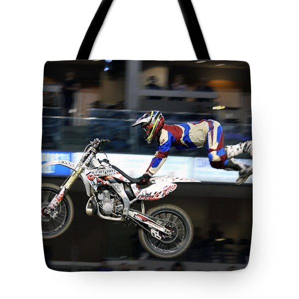 One With The Bike Tote Bag by Karol Livote