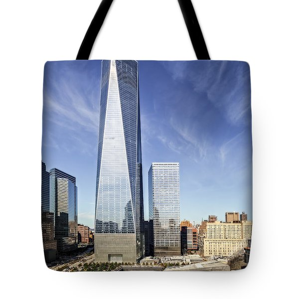 One World Trade Center Reflecting Pools Tote Bag