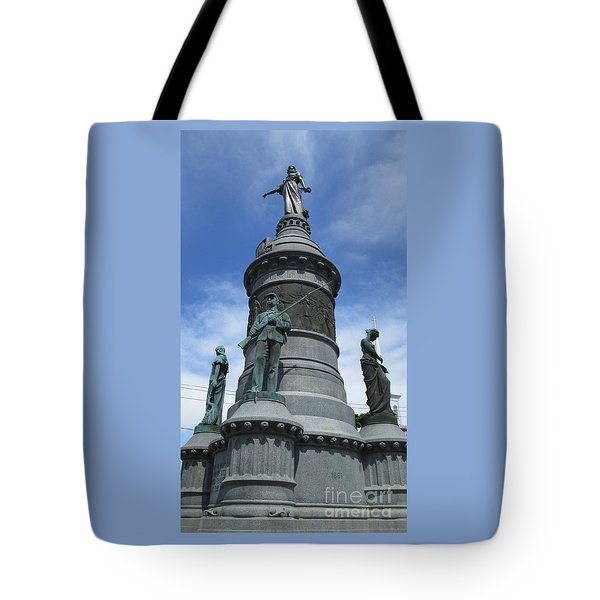 Tote Bag featuring the photograph Oneida Square Civil War Monument by Peter Gumaer Ogden
