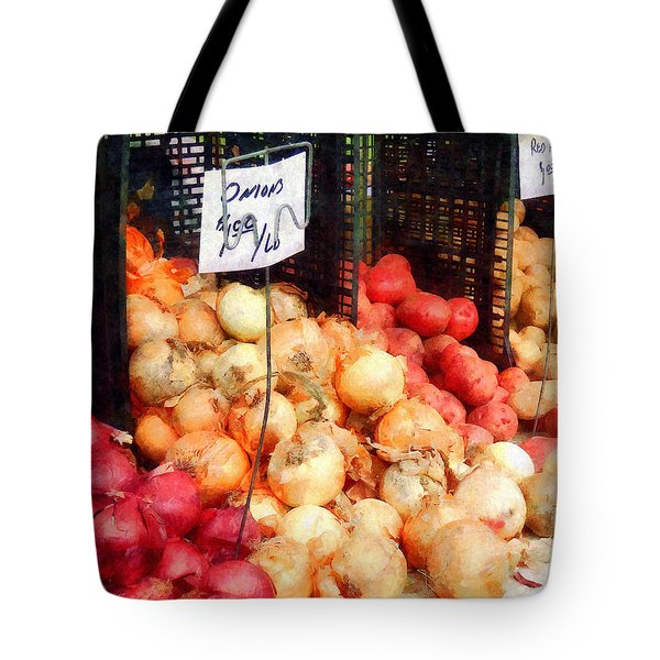 Onions And Potatoes Tote Bag by Susan Savad