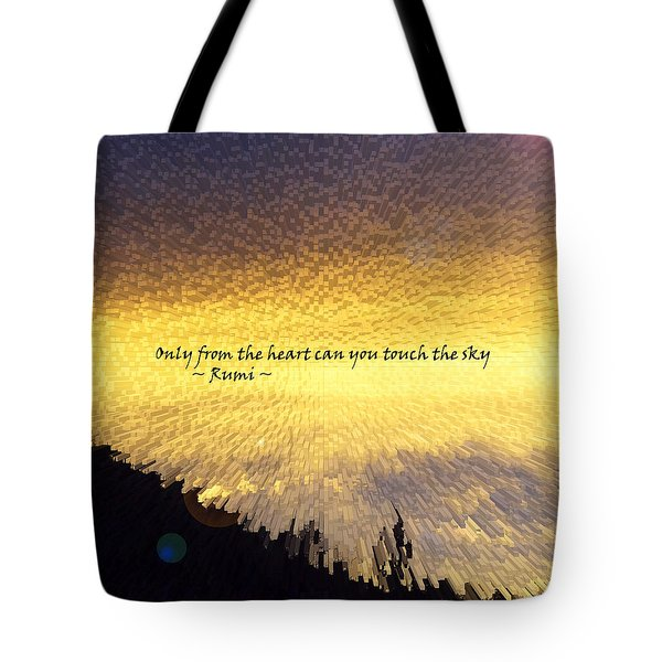 Only From The Heart Tote Bag by Anne Mott