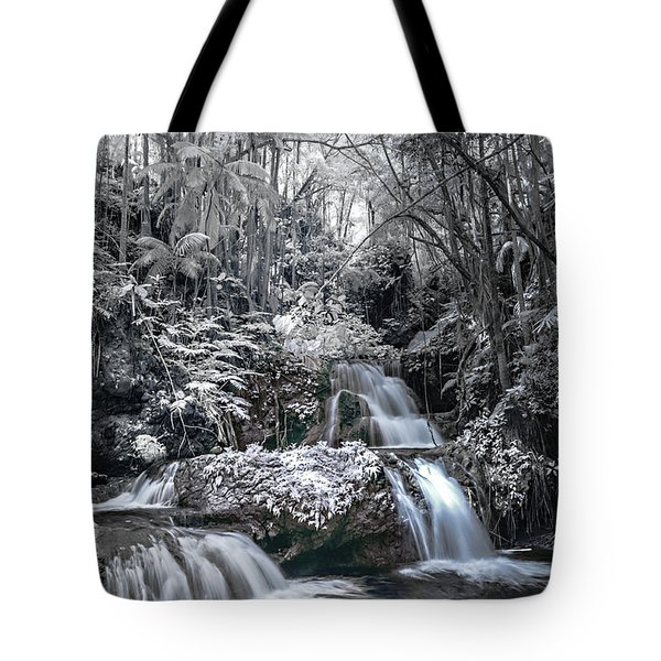 Onomea Falls In Infrared 2 Tote Bag