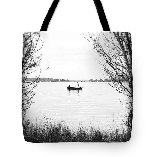 Ontario Fishing Trip Tote Bag by Valentino Visentini